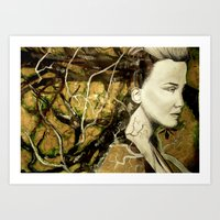 Alone with the trees Art Print