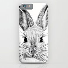 Black and White Bunny iPhone 6 Slim Case