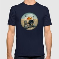 On The Move 02 Mens Fitted Tee Navy SMALL