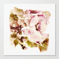 slashed floral Canvas Print