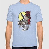 Grimm Mens Fitted Tee Tri-Blue SMALL