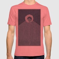All Things Are One Mens Fitted Tee Pomegranate SMALL