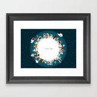 Planet Four Framed Art Print