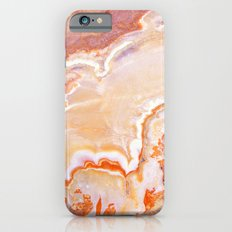 Peach Onyx Marble Slim Case iPhone 6s