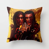 SWTOR - Sith twins selfie Throw Pillow