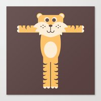 Letter T // Animal Alphabet // Tiger Canvas Print