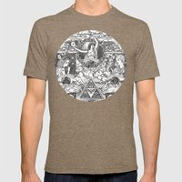 Legend of Zelda - The Three Goddesses of Hyrule Geek Line Artly Mens Fitted Tee Tri-Coffee SMALL