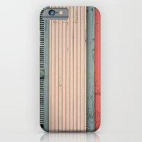 Teal shutter, coral door iPhone 6 Slim Case