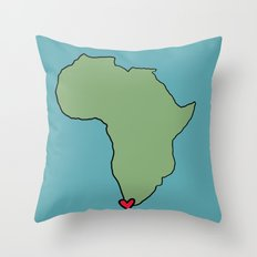 Ali Hearts Cape Town Throw Pillow