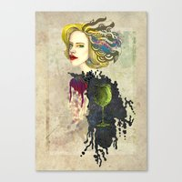 retro woman Canvas Print