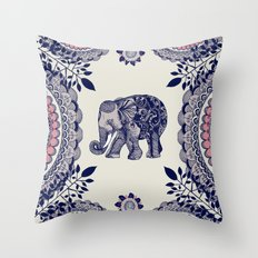 Elephant Pink Throw Pillow
