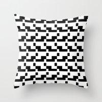 Blankaart Black & White Pattern Throw Pillow