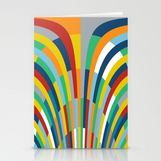 Rainbow Bricks #2 Stationery Card
