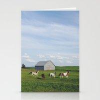Farm Horses Stationery Cards