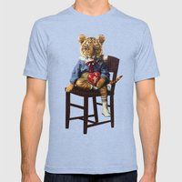Tiny Tiger Valentine Mens Fitted Tee Tri-Blue SMALL