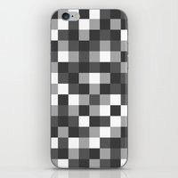 Colour Block Black And W… iPhone & iPod Skin
