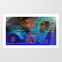 Art Print featuring Digital Mind by Timothy DaRoma