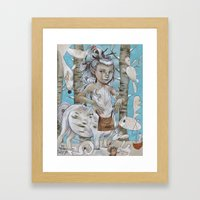 WINTER CENTAUR Framed Art Print
