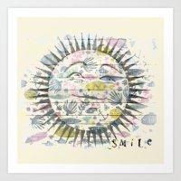 Sea A Smile Art Print