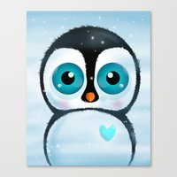 Joc the Penguin Canvas Print