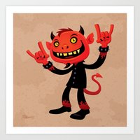 Heavy Metal Devil Art Print