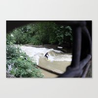 Perpetual Surfer Canvas Print
