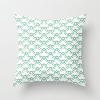 Matsukata In Grayed Jade Throw Pillow