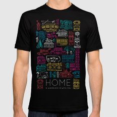 Home is Wherever I'm With You Black SMALL Mens Fitted Tee