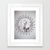 India Elephant Framed Art Print