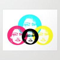 CMYK Punk Art Print