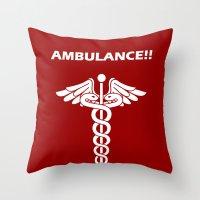 AMBULANCE!! Throw Pillow