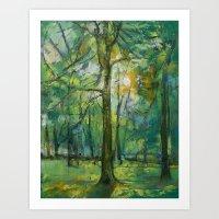 Emerald Twilight Art Print