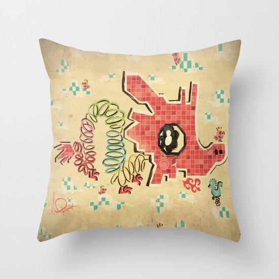 My Childhood Dragon Playground Throw Pillow