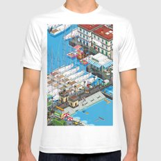 see Naples and then die! Mens Fitted Tee White SMALL
