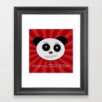 Angry Little Bear 1 Framed Art Print
