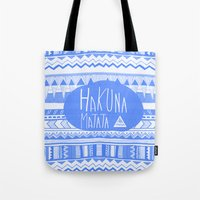 Hakuna Matata electric blue  Tote Bag