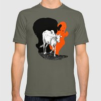 COW IS GOD Mens Fitted Tee Lieutenant SMALL