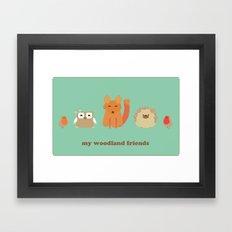 My woodland friends Framed Art Print