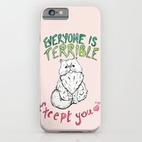 iPhone & iPod Case featuring Everyone is Terrible by Julia Emiliani