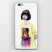 Fashion Illustration . Oriental Girl iPhone & iPod Skin