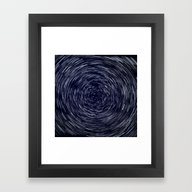 Stars Long Exposure Framed Art Print