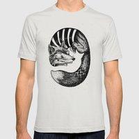 Sleepy Fox Mens Fitted Tee Silver SMALL