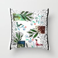 Through the jungle web Throw Pillow