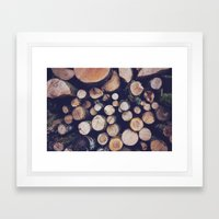 firewood no. 1 Framed Art Print