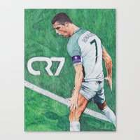 CR7 PORTUGAL DRAWING Canvas Print