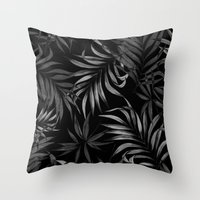 Dark Palms Throw Pillow