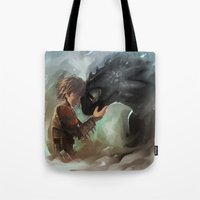 Hiccup & Toothless Tote Bag