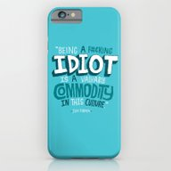 iPhone & iPod Case featuring Idiot Commodity by Chris Piascik