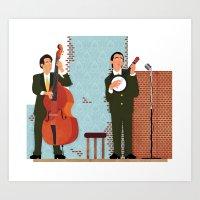 String Duo Art Print