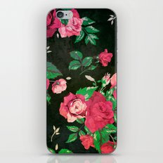BLACK VINTAGE FLOWERS 2 - for iphone iPhone & iPod Skin